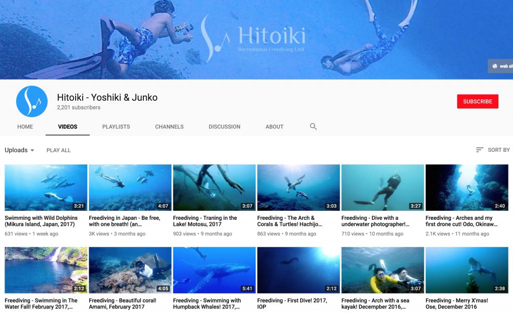 YoutubeChannelHitoikiFreediving