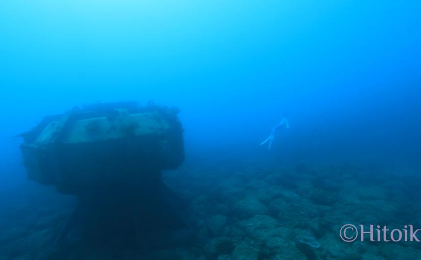 砂辺の水中UFOを素潜りで探検(沖縄県北谷町)